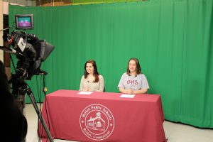 studio video morning announcements high school students