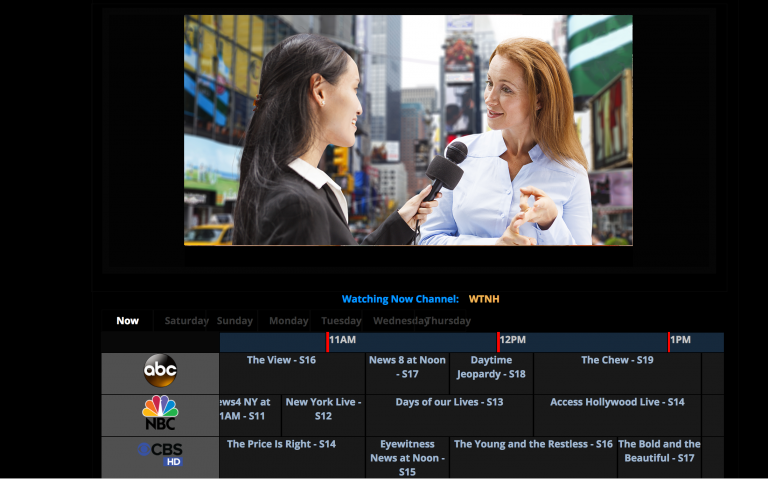 IPTV Live TV Content Guide and Recording