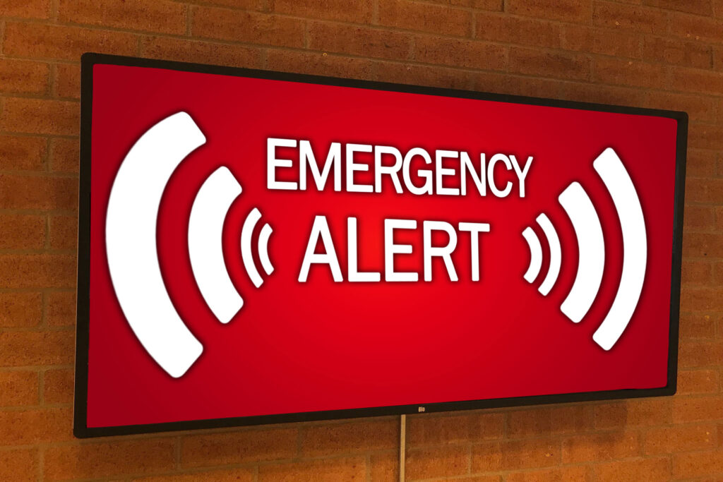 Priority Alert for Digital Signage and SMS Notifications