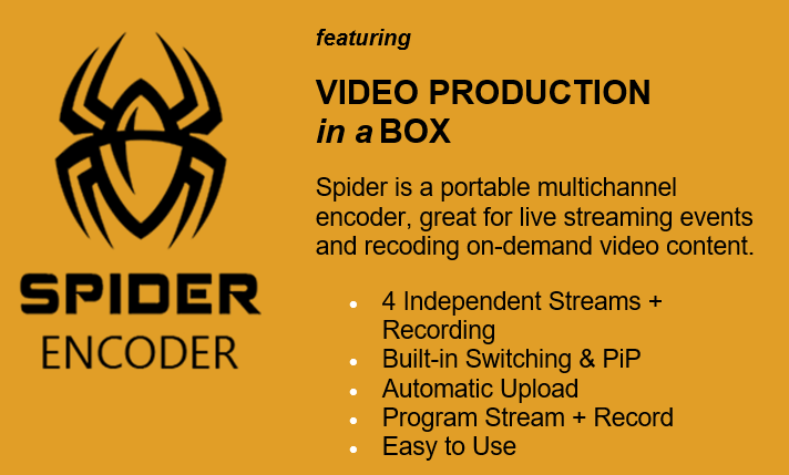 Spider Multichannel Encoder & Switcher from DiscoverVideo