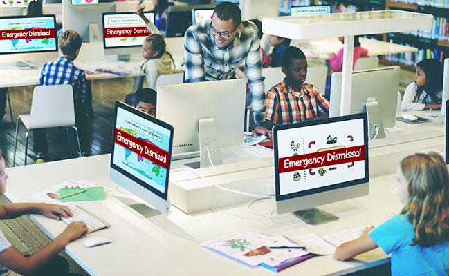 DEVOS Priority Alert notifies people of an emergency wherever they are looking - desktop, mobile or display