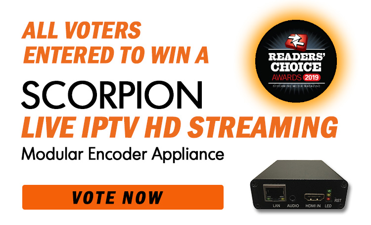 Vote to Enter to Win Scorpion Live IPTV Video Encoder