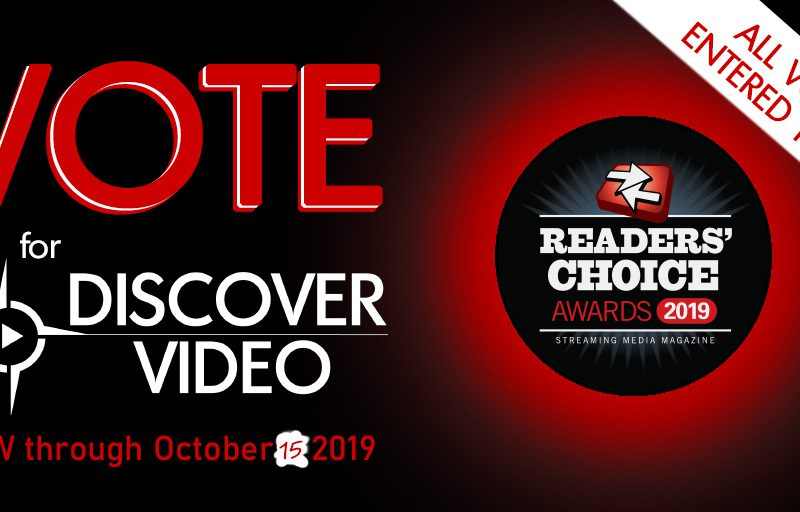 Vote for DiscoverVideo in Streaming Media Readers Choice Awards